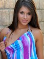 Watch as Shyla Jennings pulls her dress aside showing off her perfect teenage breast